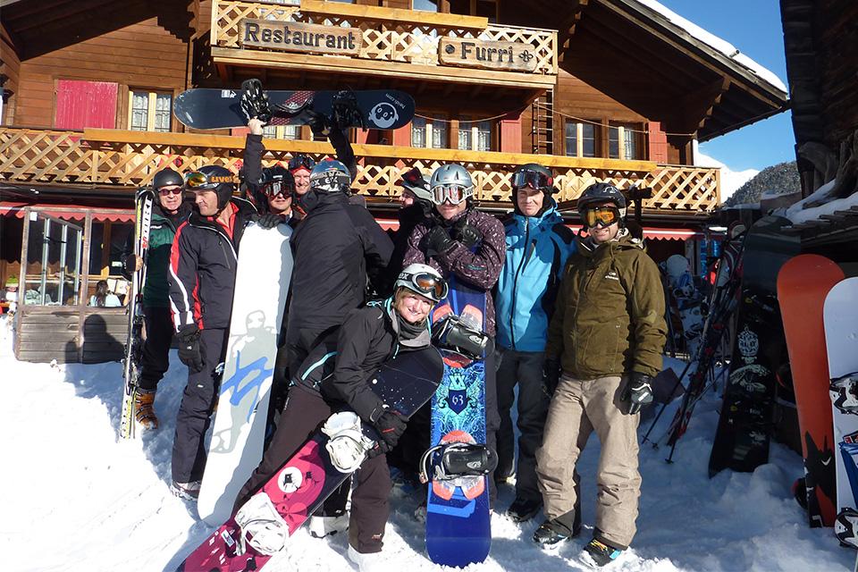 Ski alpin et snowboard slide 02
