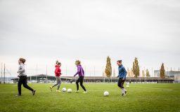 Football féminin sur herbe